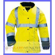 be344596e7 AIRPORT LADY sárga/kék szellőző Breathane® női télikabát, gumizott derék,  bővíthető alj