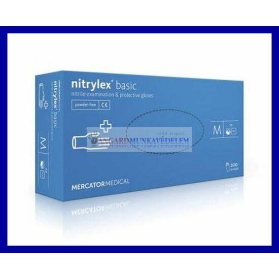 NITRYLEX BASIC BLUE, púdermentes nitril kesztyű