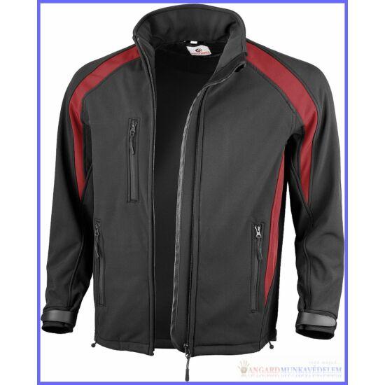 Dzseki Softshell fekete-piros 10204