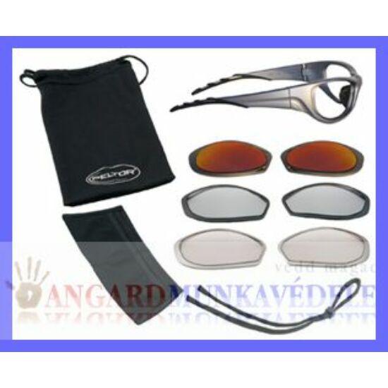 Napszeműveg Force-3 szett Torsion Lock szár, 3 db cserélhető lencse: in/out, tükrös ezüst és narancs