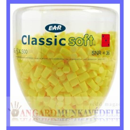 E.A.R. Classic Soft műanyag buborékban, One Touch adagolóhoz  (500 pár)