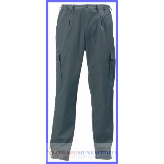Factory deréknadrág, gumibetétes, cipzáros nadrág, övbújtatókkal, biztonsági varrás az ülepen, 6 zseb