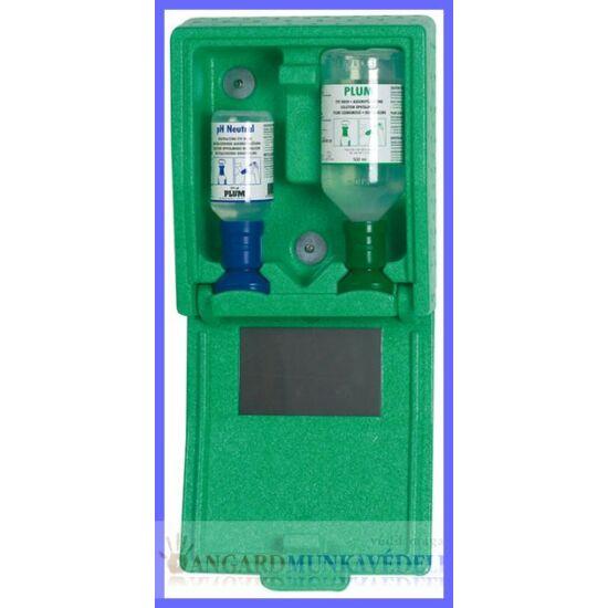 PLUM szemöblítő fali állomás  PL4787: elsősegély állomás fali dobozban,