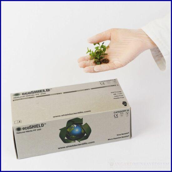 ecoSHIELD NATURAL NITRILE 250, púdermentes, munkavédelmi kesztyű